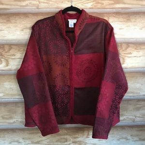 Coldwater Creek patchwork tapestry jacket Sz XL